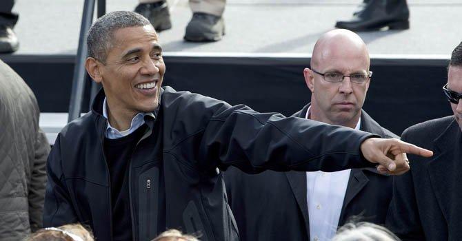 El presidente Barack Obama en Concord, New Hampshire.