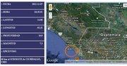 Mapa muestra el epicentro del sismo