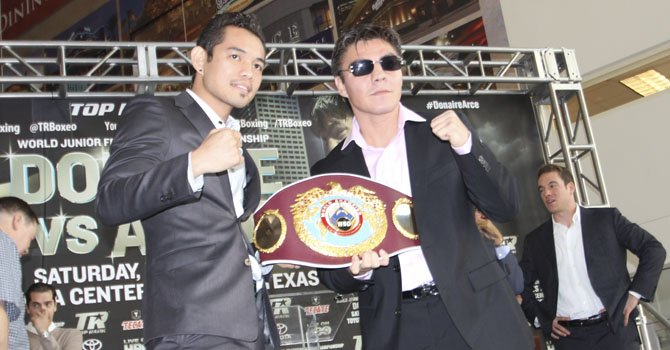 "Nonito ""Filipino flash"" Donaire y Jorge ""El Travieso"" Arce se medirán en Houston"