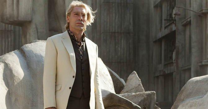 "Javier Bardem en el papel del villano Raoul Silva, en la última película de James Bond ""Skyfall""."