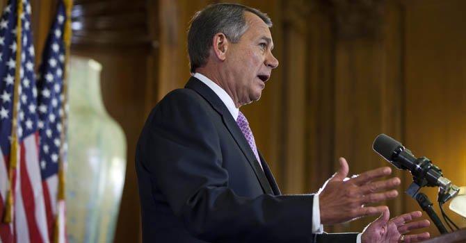 El presidente de la Cámara de Representantes, John Boehner, habla el miércoles 7 de noviembre.