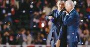UNIDOS. Barack Obama y Joe Biden la madrugada del miércoles 7 en el centro de Chicago. En su discurso, el presidente reelecto enumeró pasos concretos que seguirá en esta nueva etapa.