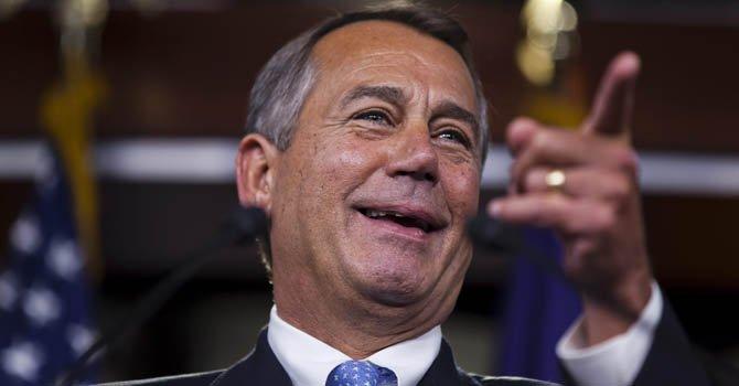 El líder de los republicanos en la cámara baja John Boehner.