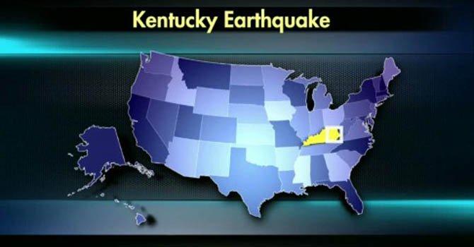 Un sismo de 4,3 sacudió Kentucky el sábado 10 de noviembre.