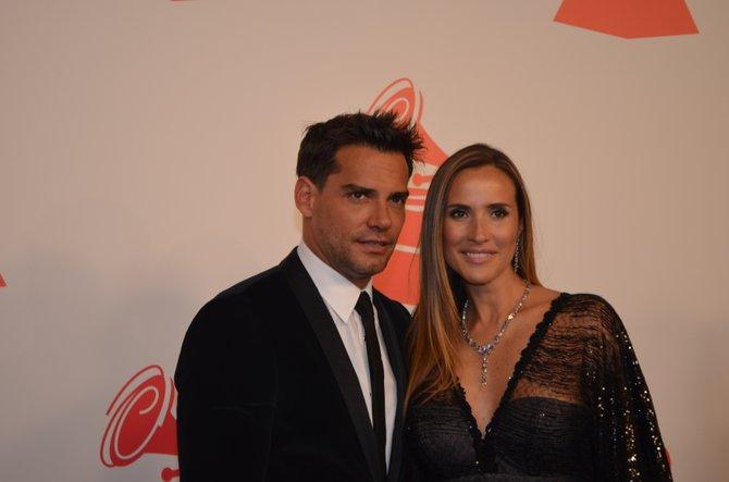 Cristian de la Fuente y su esposa