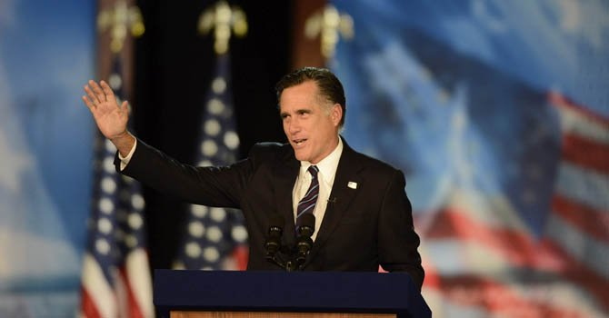 El ex candidato republicano a la presidencia Mitt Romney el 6 de noviembre.
