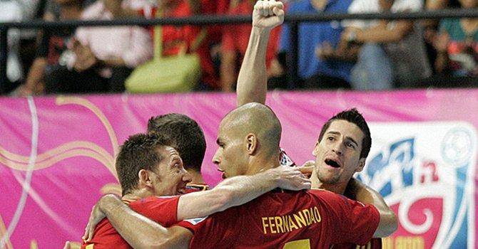 El equipo de España buscará el título mundial de fútbol sala ante Brasil.