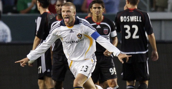 El inglés David Beckham revolucionó en fútbol en Estados Unidos con su llegada a la MLS en 2007.