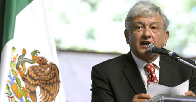 El excandidato presidencial mexicano Andrés Manuel López Obrador.
