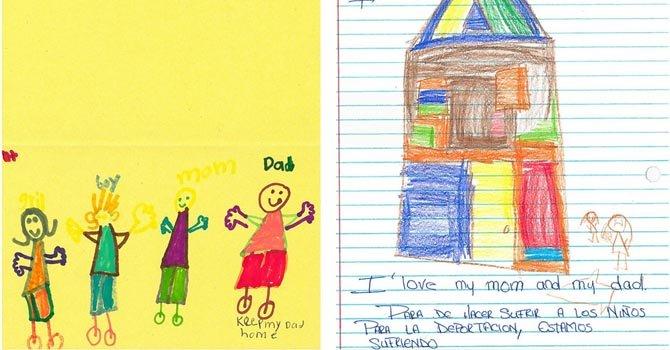 Cientos de niños de Los Ángeles le escribieron a congresistas diciendo que extrañan a sus padres deportados.