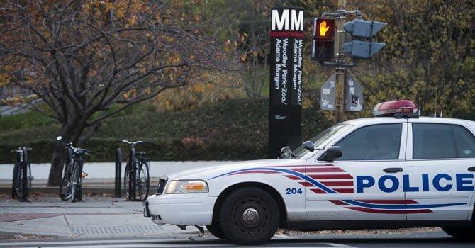 Una patrulla de la Policía de DC en el noroeste de la ciudad.