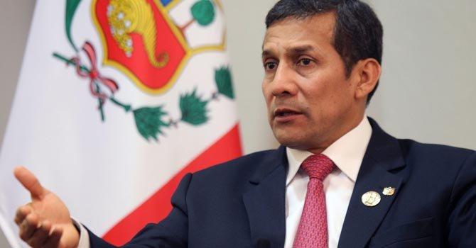 """Ollanta Humala aseguró que el plan """"Esperanza"""" contra el cáncer beneficiará a 12 millones de personas."""