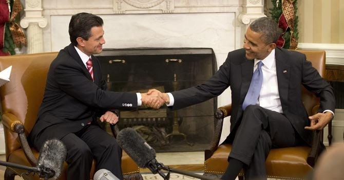 Barack Obama y Enrique Peña Nieto, quien asume el sábado 4, se reunieron en la Casa Blanca el martes 27 de noviembre.