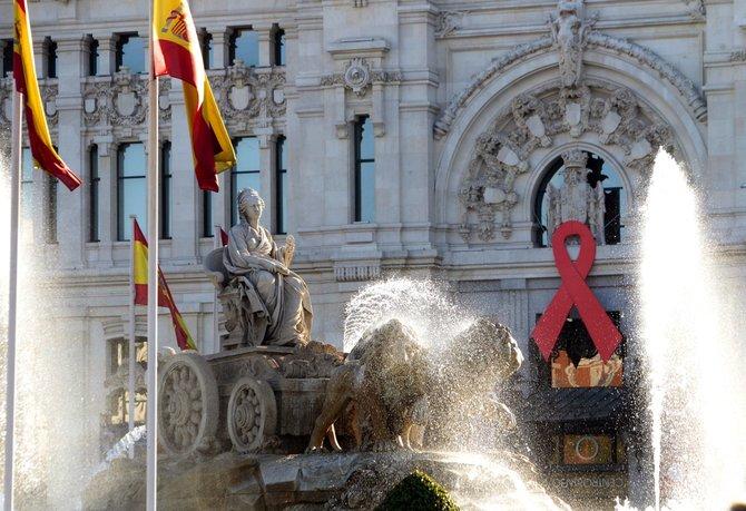En España, la cita fue en el centro de Madrid.