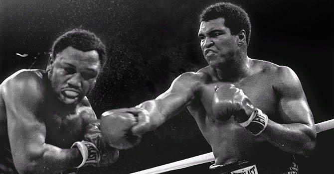 La leyenda del boxeo Mohamed Alí.