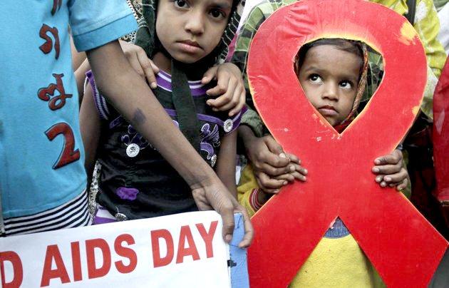 Día Mundial del Sida en Kolkata, India.