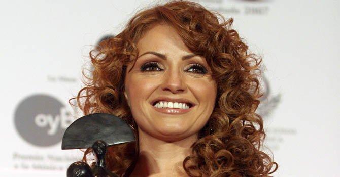 La actríz y cantante Angélica Rivera.