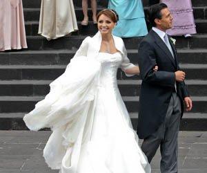 Boda de Enrique Peña Nieto  y la actriz Angélica Rivera.