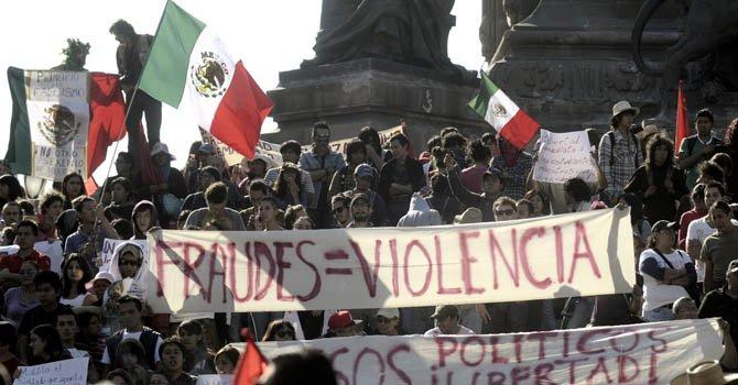 Encarcelan a participantes en disturbios contra Peña Nieto