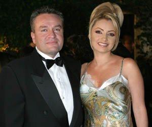 La actriz mexicana Angelica Rivera y su primer esposo, el productor mexicano Alberto Castro.