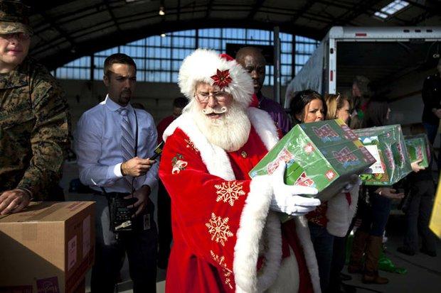 Santa en Sandy