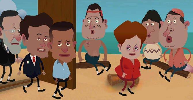 """La serie """"Isla Presidencial"""" regresa a la red con nuevos fichajes como el presidente del Gobierno español, Mariano Rajoy, y los jefes de Estado de Brasil, Dilma Rousseff, y México, Enrique Peña Nieto, como nuevos ilustres náufragos."""