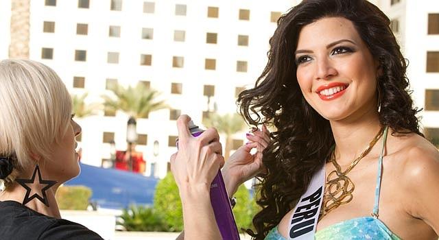 Miss Perú, en la foto, es una de las 89 participantes que representan a distintos países.