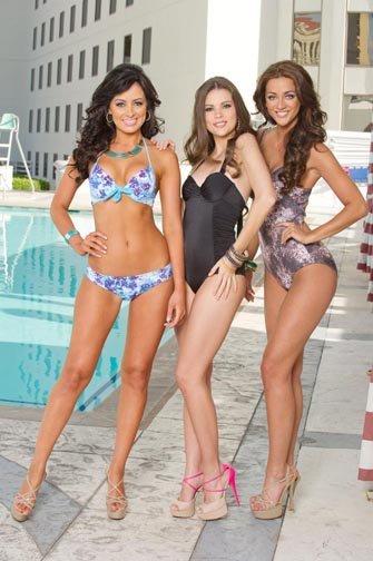 Miss Costa Rica, Miss Uruguay y Miss Reino Unido