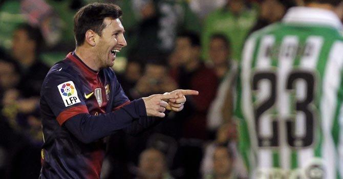 Messi marcó dos goles en 25 minutos ante el Real Betis, el domingo 9.