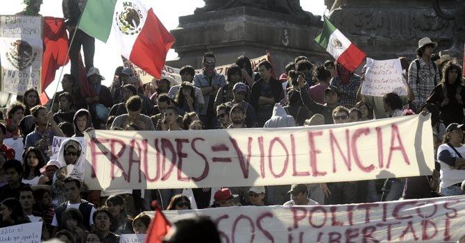 Los enfrentamientos ocurrieron en la juramentación de Enrique Peña Nieto, el 1 de diciembre.