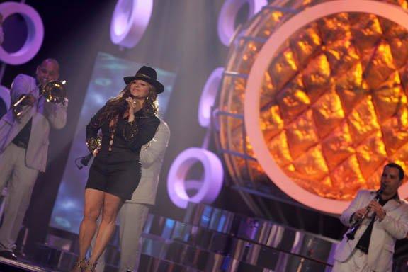 "La ""Diva de la Banda"", Jenni Rivera, en una de sus presentaciones en 2009."