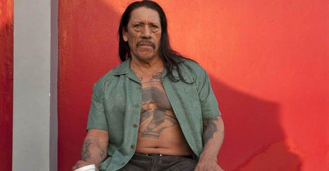 """El actor estadounidense de origen mexicano Dan """"Danny"""" Trejo durante el rodaje de la cinta de acción """"In the Blood"""" en San Juan."""