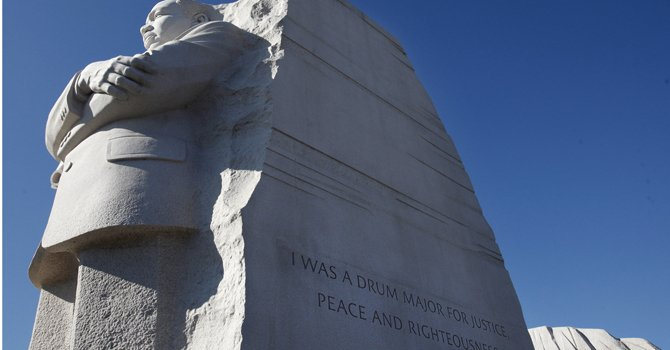 El monumento a Martin Luther King Jr. se encuentra en el Mall de Washington.