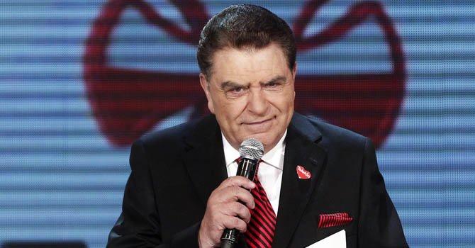 """El presentador Mario Kreutzberger conocido como """"Don Francisco"""" participa una pasada edición del Teletón de Chile."""