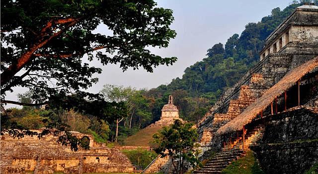 La zona arqueológica de Palenque en el estado mexicano de Chiapas.