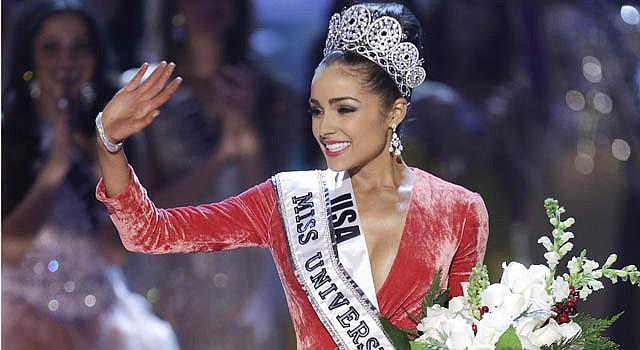 Miss Estados Unidos, Olivia Culpo, tras ser coronada Miss Universo 2012 en la gala celebrada ayer en Las Vegas, Nevada.