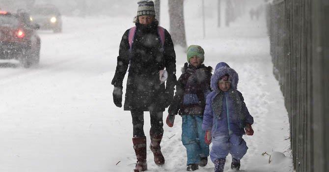 Cae primera nevada en el centro del país