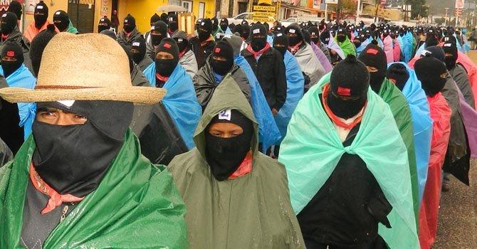 Zapatistas regresan a pueblos en paz
