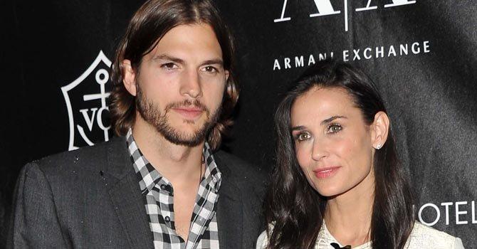 Demi Moore y Ashton Kutcher se casaron en 2005. Ella tiene 16 años más que él.