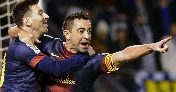 Messi anotó un gol en el partido contra el Real Valladolid, el último del año.