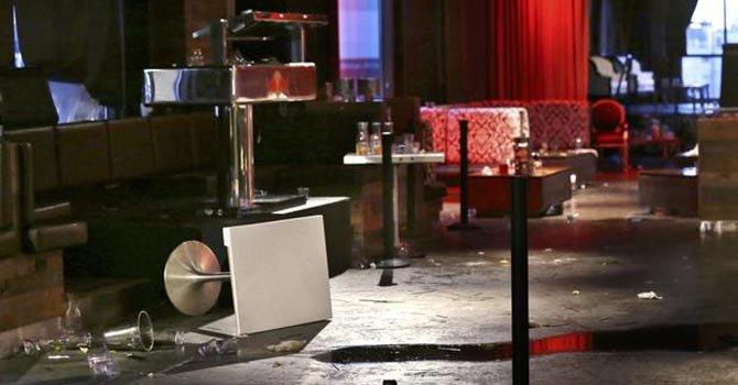 Interior del bar Munchbar en donde ocurrió el tiroteo la madrugada del lunes 24.