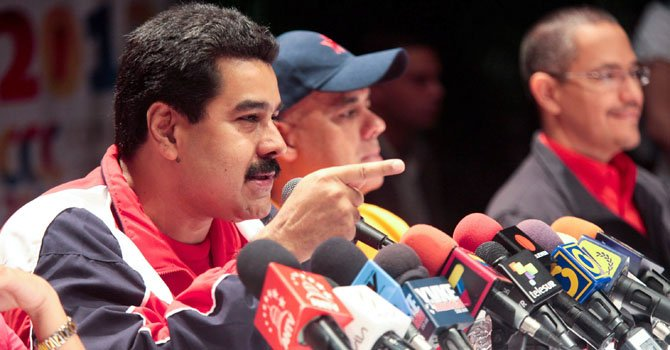 El vicepresidente venezolano Nicolás Maduro.