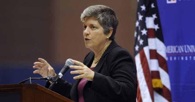 Janet Napolitano secretaria del Departamento de Seguridad Interna.