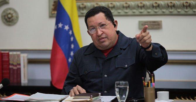 El presidente venezolano Hugo Chávez.