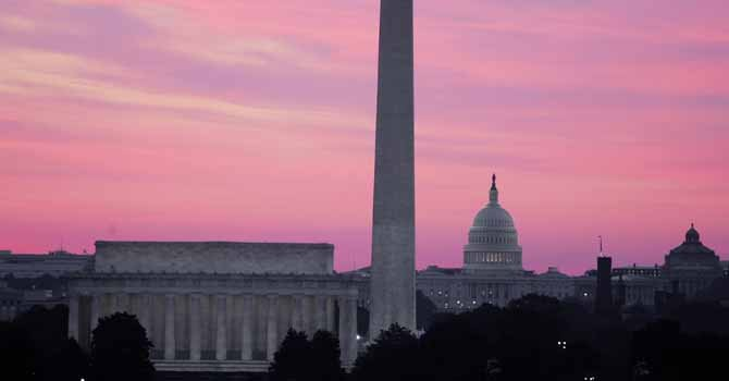 Washington DC al atardecer.