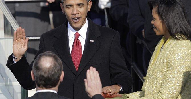 Hace cuatro años Obama fue el primer presidente que juramentó con la Biblia sobre la que Lincoln juró en 1861.