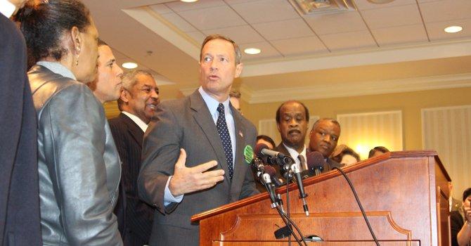Martin O'Malley habla sobre la iniciativa para abolir la pena de muerte en una conferencia realizada en Annapolis, el 15 de enero.