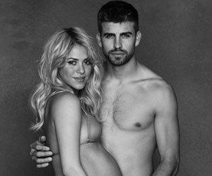 La cantante y embajadora de buena voluntad de UNICEF exhibe su avanzado embarazo junto al padre de su hijo, el futbolista español Gerard Piqué.