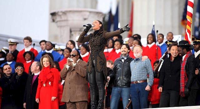 """Beyonce volverá a cantar en la inauguración de Obama, como lo hizo en el recital """"We are One"""", en 2009, (foto)."""