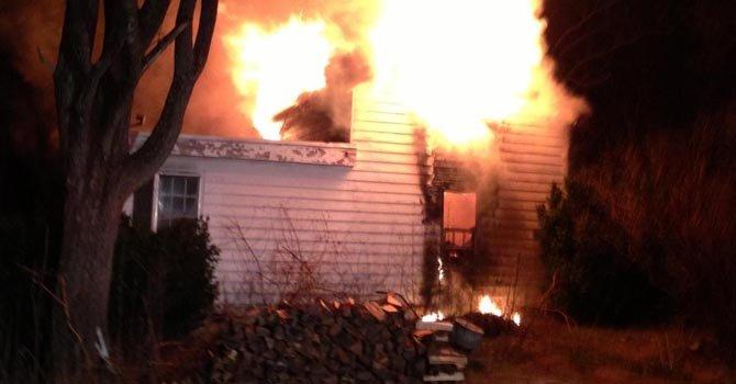 Feroz incendio en el condado de Montgomery
